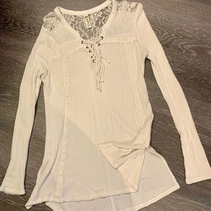 American rag white lace sweater